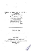 The Anti slavery Record