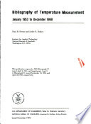 Bibliography of Temperature Measurement, January 1953 to December 1969