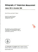 Bibliography of Temperature Measurement  January 1953 to December 1969