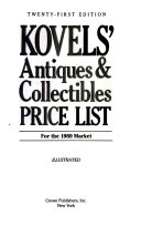 Kovels  Antiques and Collectibles Price List