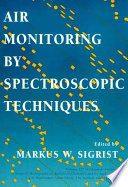 Air Monitoring By Spectroscopic Techniques Book PDF