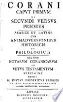 Corani caput primum et secundi versus priores