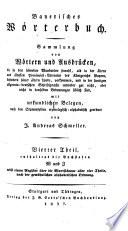 Vierter Theil, enthaltend die Buchstaben W und Z nebst einem Register über die Wortstämme aller vier Theile, nach der gewöhnlichen alphabetischen Ordnung