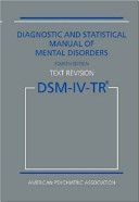 Diagnostic And Statistical Manual Of Mental Disorders 4th Edition Text Revision Dsm Iv Tr  Book