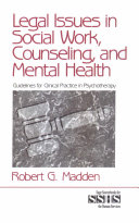 Legal Issues in Social Work  Counseling  and Mental Health