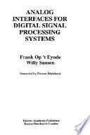 Analog Interfaces For Digital Signal Processing Systems Book PDF