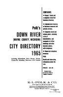 Down River City Directories Book