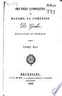 Œuvres complètes de Madame la Comtesse De Genlis