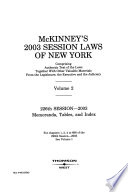 McKinney's Session Laws of New York