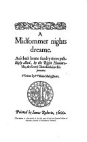 The Comedy of A Midsummer Night s Dream