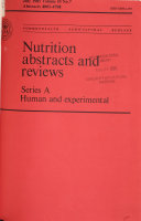 Nutrition Abstracts and Reviews Book
