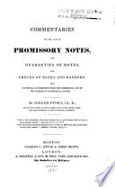 Commentaries On The Law Of Promissory Notes And Guaranties Of Notes And Check On Banks And Bankers  PDF