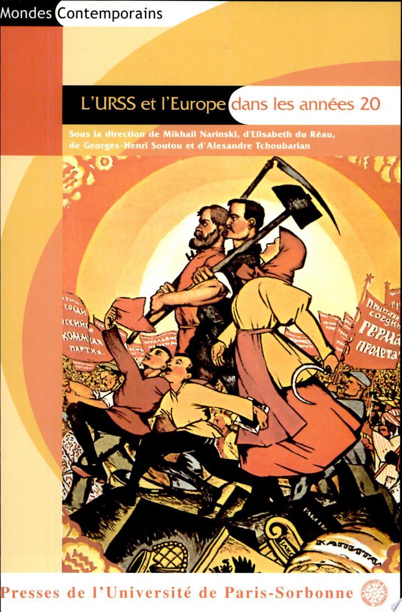 L'URSS et l'Europe dans les années 20 banner backdrop