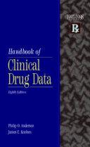 Handbook of Clinical Drug Data  1997 1998