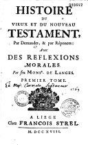 Histoire du Vieux et du Nouveau Testament