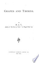 Grapes And Thorns Book