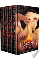 Blazing Dragons Box Set  Books 7 10  Fallen Immortals    Dragon Shifter Paranormal Romance