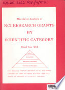 Multilevel Analysis of NCI Research Grants by Scientific Catergory