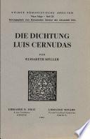 Die Dichtung Luis Cernudas