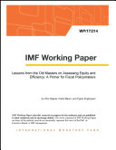 Lessons from the Old Masters on Assessing Equity and Efficiency  A Primer for Fiscal Policymakers