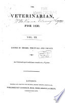 The Veterinarian A Monthly Journal Of Veterinary Science For 1828 1902