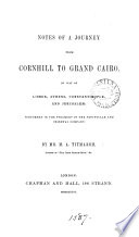 Notes of a journey from Cornhill to grand Cairo, by M.A. Titmarsh (W.M. Thackeray).