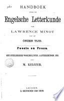 Handboek voor de Engelsche letterkunde van Lawrence Minot tot op onzen tijd