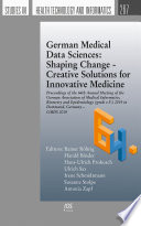 German Medical Data Sciences  Shaping Change   Creative Solutions for Innovative Medicine