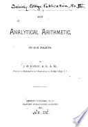 An Analytical Arithmetic