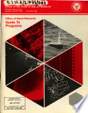 Office of Naval Research Guide to Programs