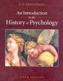 An Introduction to the History of Psychology Book