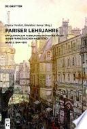 Pariser Lehrjahre 2  : Ein Lexikon zur Ausbildung deutscher Maler in der französischen Hauptstadt. Bd. II: 1844-1870