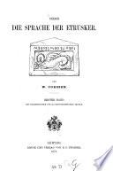 Ueber die Sprache der Etrusker