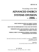 Proceedings Of The Asme Advanced Energy Systems Division Book PDF