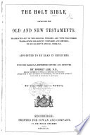 The Holy Bible     With the Marginal References Revised and Improved by Robert Lee