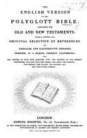 The English Version of the Polyglott Bible, Etc