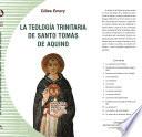 La teología trinitaria de Santo Tomás de Aquino