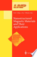Nanostructured Magnetic Materials And Their Applications Book PDF
