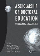 A Scholarship of Doctoral Education