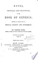 Notes, Critical and Practical, on the Book of Genesis