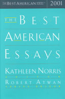 The Best American Essays 2001 Book