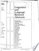 Linguistics and Language Behavior Abstracts  : LLBA. , Band 25,Teil 2