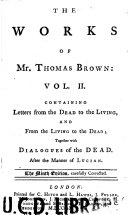 The Works of Mr  Thomas Brown Book PDF