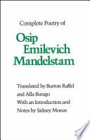 Osip Emilevich Mandelstam Books, Osip Emilevich Mandelstam poetry book