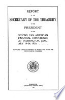 Report of the Secretary of the Treasury to the President on the Second Pan American Financial Conference at Washington