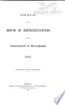 Journal of the House of Representatives of the Commonwealth of Massachusetts