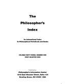 The Philosopher s Index