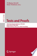 Tests and Proofs