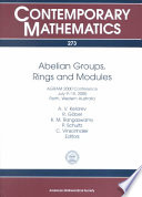 Abelian Groups  Rings and Modules