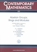 Abelian Groups, Rings, and Modules